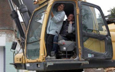 Laatste sloopwerkzaamheden voor nieuw woonzorgcomplex te Dordrecht